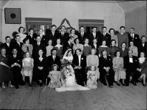 Segeblad bröllopsfoto 1950